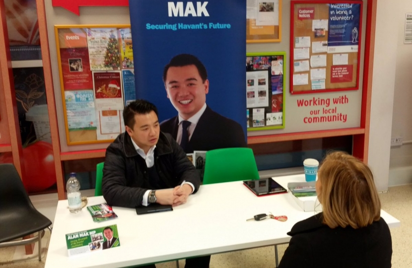 Alan Mak MP surgery