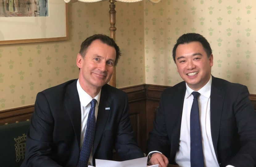 Alan Mak MP with Jeremy Hunt MP