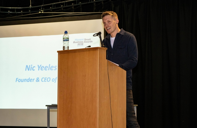 Guest speaker Nic Yeeles inspired the Havant crowd