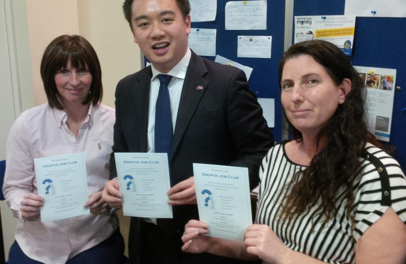 Alan Mak supports the Hayling Job Club at Hayling Community Centre