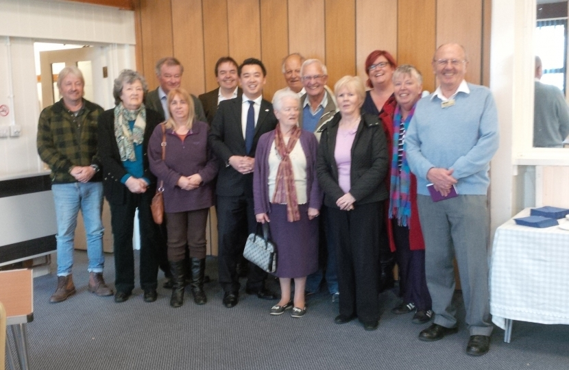 Alan Mak hosts a coffee morning for residents at Hayling Community Centre