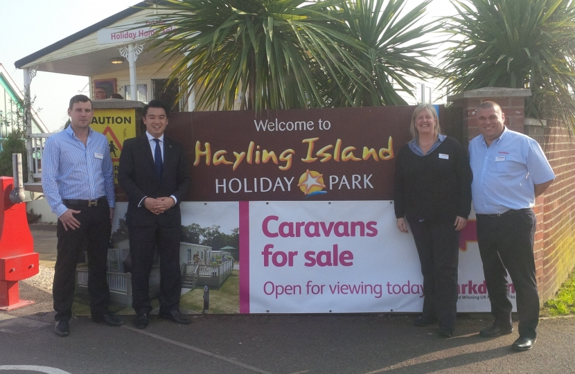 Alan Mak visits Parkdean holiday park