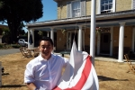 Alan Mak MP with England flag